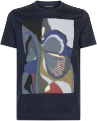 Emporio Armani - Distorted Paint T-shirt - Lyst