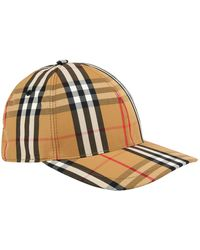 Burberry Vintage Check Baseball Cap - Yellow