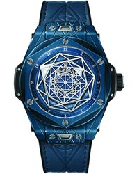 Hublot Ceramic Big Bang Unico Sang Bleu Watch 45mm - Blue