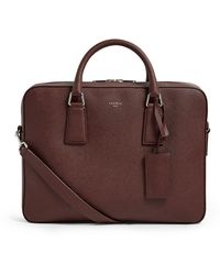 Sandro Leather Briefcase - Red
