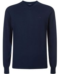 Armani Jeans - Knitted V-neck Sweater - Lyst