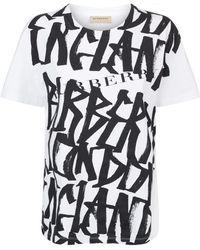 Imprimir Camiseta Burberry Burberry Graffiti Graffiti Lyst qFPFzSWtf