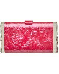 Edie Parker Lara Solid Clutch - Pink