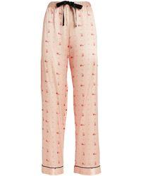 Morgan Lane Floral Chantal Pyjama Bottoms - Pink