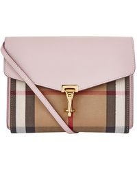 Burberry - Macken Check Crossbody Bag - Lyst