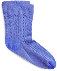 Wolford Nyx Metallic Socks - Blue