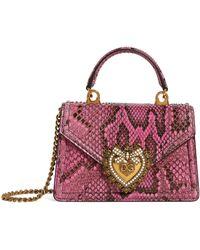 Dolce & Gabbana Kleine Snakeskin Devotion Schultertasche - Mehrfarbig