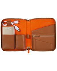 Stow Mini First Class Tech Case - Brown