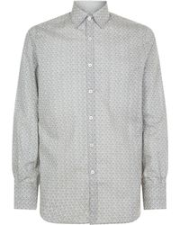 Canali - Faded Flower Cotton Shirt - Lyst
