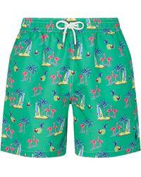 Ralph Lauren Flamingo Island Swim Shorts - Green