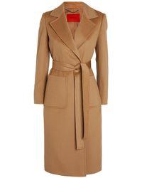MAX&Co. Wool Runaway Coat - Yellow