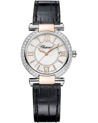 Chopard - Stainless Steel, Rose Gold And Diamonds Imperiale Automatic Watch 28mm - Lyst
