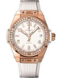 Hublot - Big Bang One Click 39mm King Gold White Diamond Watch - Lyst