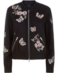 Needle & Thread - Butterfly Rose Bomber Jacket - Lyst