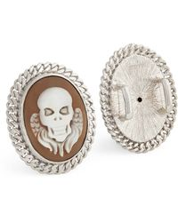 Amedeo - Skull Shoelace Studs - Lyst