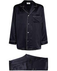 Zimmerli Silk Pyjama Set - Blue