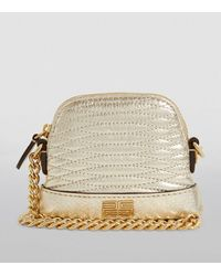 Sandro Baby Quilted Leather Cross-body Bag - Yellow