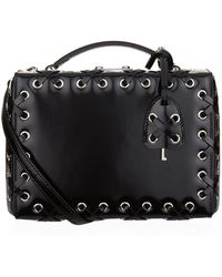 Mark Cross - Small Lace-up Leather Grace Box Bag - Lyst