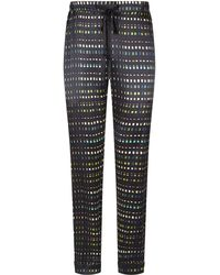 Meng - Printed Silk Lounge Trousers - Lyst