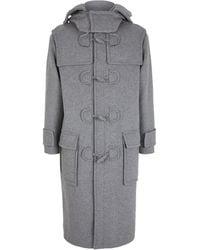 Valentino Wool-blend Pea Coat - Gray