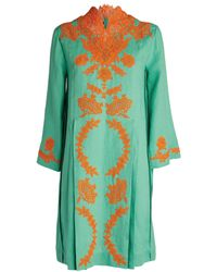 Gucci Embroidered Kaftan - Blue