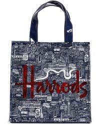 Harrods - Small Picture Font Shopper Bag - Lyst