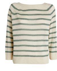 Weekend by Maxmara Striped Linen Jumper - Green