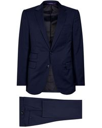 Ralph Lauren Purple Label Wool Two-piece Suit - Blue
