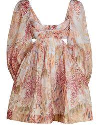 Zimmermann - Floral Wild Botanica Mini Dress - Lyst