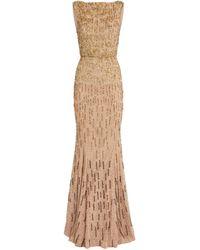 Rachel Gilbert Sequin-embellished Ava Gown - Metallic
