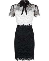Sandro - Tri-colour Lace Dress - Lyst