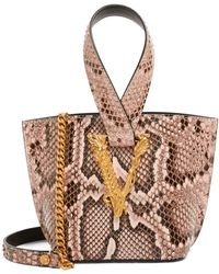 Versace Python Virtus Top-handle Bag - Multicolour
