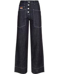 KENZO - Straight Leg Jeans - Lyst
