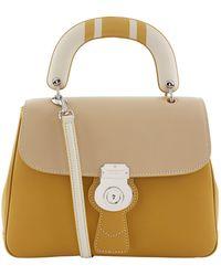Burberry - Medium Dk88 Top Handle Bag, Yellow - Lyst