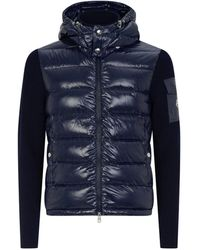 Moncler Quilted Cardigan - Blue