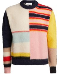 Lanvin - Alpaca-blend Patchwork Sweater - Lyst