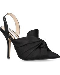 N°21 Satin Knotted Slingback Court Shoes 100 - Black