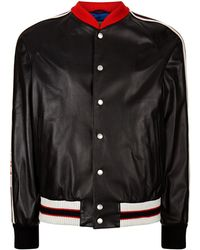 Gucci - Hollywood Leather Bomber Jacket - Lyst