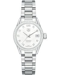 Tag Heuer Carrera Mother-of-pearl Automatic 28mm Watch - White