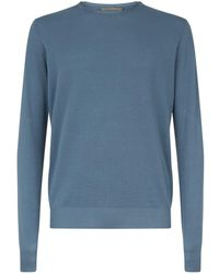 Corneliani - Cotton Piqu Long-sleeved Top - Lyst