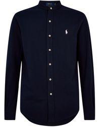 Polo Ralph Lauren Mandarin Collar Shirt - Blue