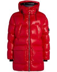 Mackage Kent Down Coat With Detachable Hood In Red