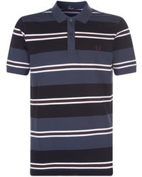 Fred Perry - Striped Polo Shirt - Lyst