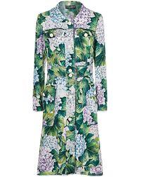 Dolce & Gabbana Hydrangea Print Coat - Green