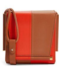 ROKSANDA Leather Two-tone Box Bag - Brown