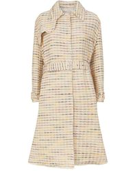 Brock Collection Orgosolo Woven Belted Trench Coat - Natural