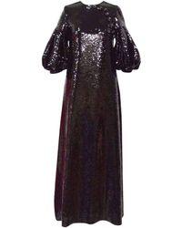 Huishan Zhang - Celine Puff-sleeved Sequin Dress - Lyst