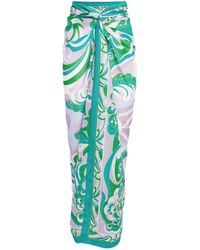 Emilio Pucci Cotton Printed Sarong - Green