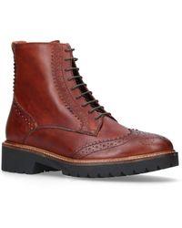 Carvela Kurt Geiger Snail Brogue Ankle Boots - Natural