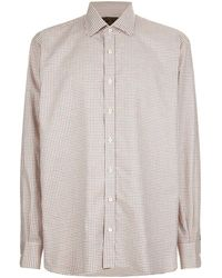James Purdey & Sons   Tattersall Check Print Shirt, Red, Uk 18.5   Lyst